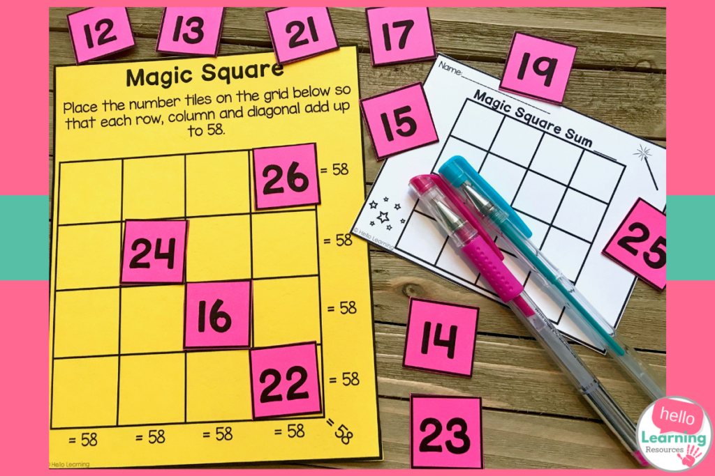 Using Magic Square Puzzles in Your Math Class - Hello Learning